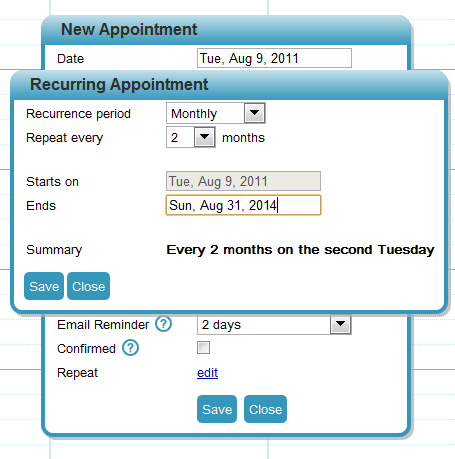 Recurring-appointments